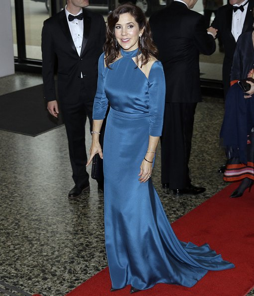 Crown Princess Mary wore a dress from Jesper Høvring Fall/Winter 2016-17 collection