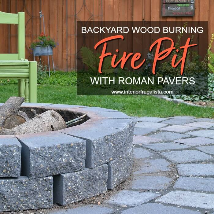 Backyard Wood Burning Fire Pit With Roman Pavers