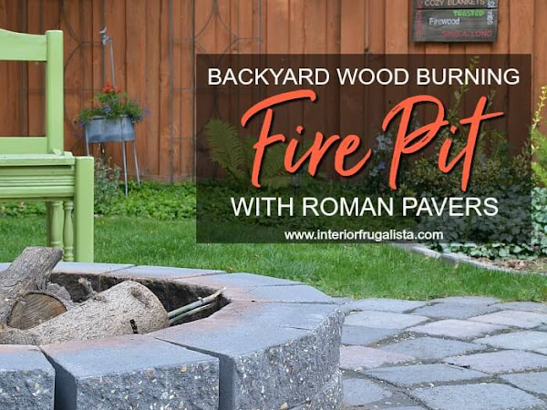 Woodburning Backyard Fire Pit Refresh With Roman Pavers
