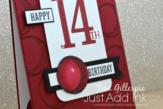 scissorspapercard, Stampin' Up!, Just Add Ink, Play Ball, Itty Bitty Birthdays, Number Of Years, Sending You Thoughts SAB, Subtle 3DEF, Stampin' Blends