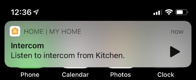 استمع إلى نظام الاتصال الداخلي على iPhone