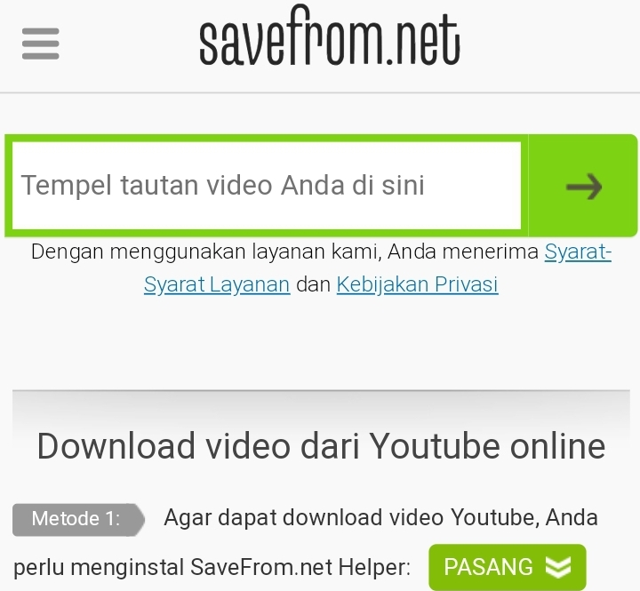 download youtube di hp