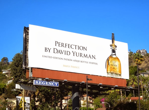 David Yurman limited edition Patrón Tequila billboard