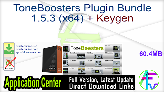 ToneBoosters Plugin Bundle 1.5.3 (x64) + Keygen