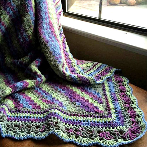 C2C Blanket with Fabulous Edge - Tutorial