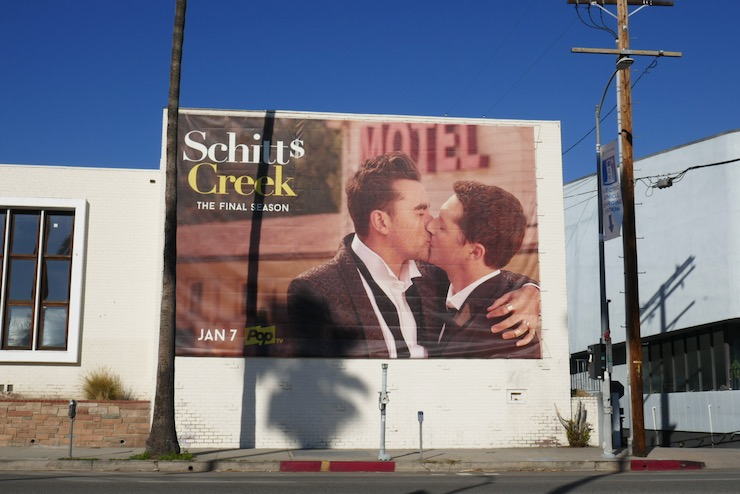 Schitts Creek season 6 billboard