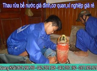 rửa bồn nước inox,thau rửa bể nước ăn gia đình,cơ quan,xí nghiệp 0979.266.769