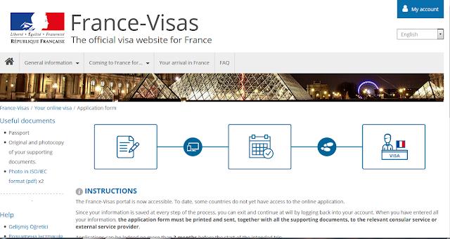 ملأ استمارة فيزا فرنسا للسعوديين