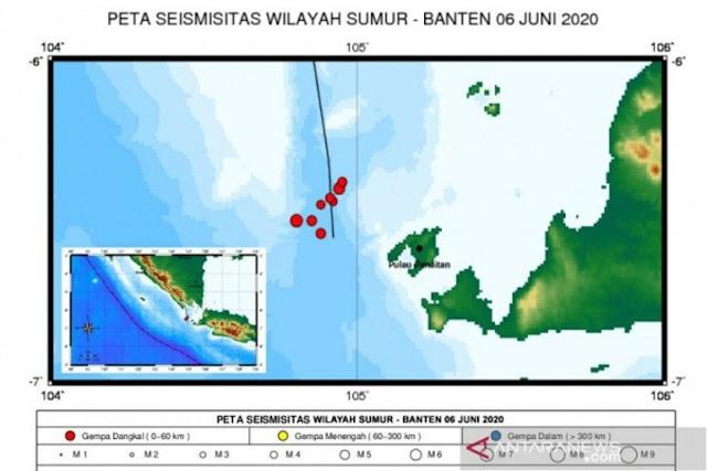 Muncul Fenomena Aneh di Selat Sunda, 9 Gempa Bumi Terjadi Setiap Menit
