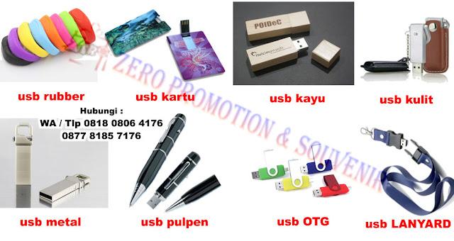 Flashdisk rubber, flashdisk kartu, flashdisk kayu, flashdisk kulit, flashdisk metal, flashdisk pulpen, flashdisk OTG, bahkan sampai flashdisk tali id card