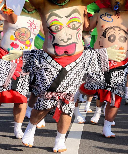 Heso Matsuri (Center of Japan Festival) in Shibukawa, Gunma Pref.