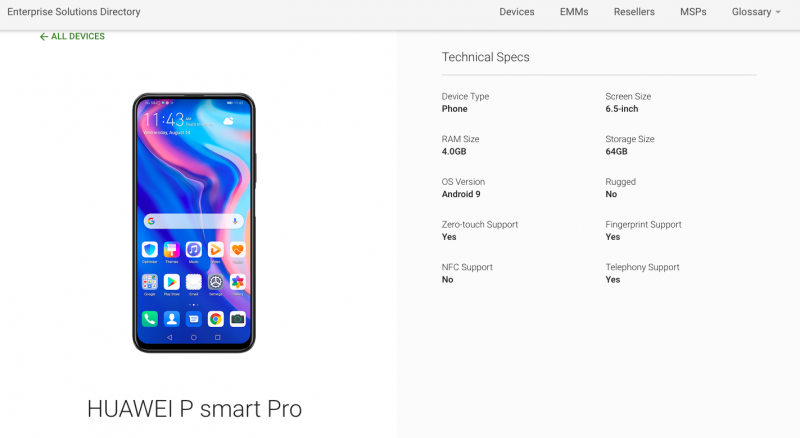 Google leaks Huawei P smart Pro with notchless design