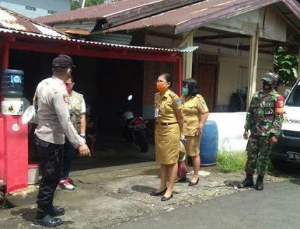 Babinsa Koramil 1310-06/Airmadidi Lakukan Patroli Rutin PPKM