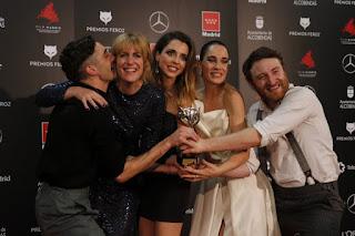 Equipo de 'Vida Perfecta' en los Premios Feroz 2020
