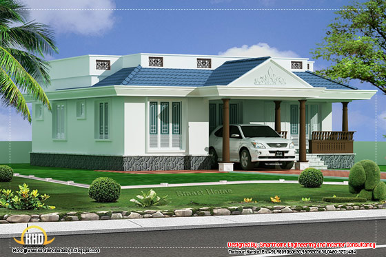 3 Bedroom Single story villa - 1100 Sq. Ft. (102 Sq.M.)(122 Square Yards)- April 2012