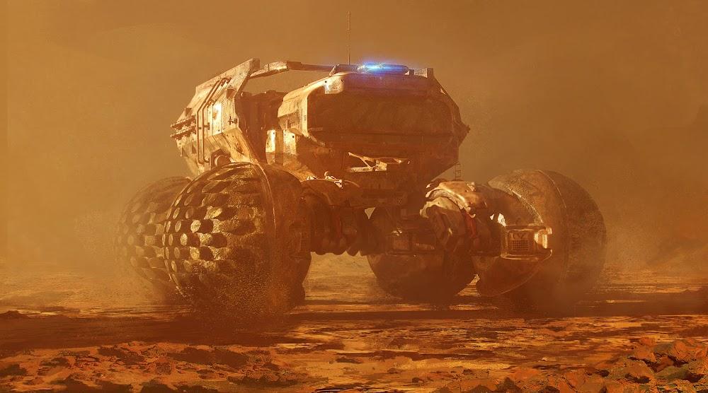 Mars exploration rover by Sergii Golotovskiy