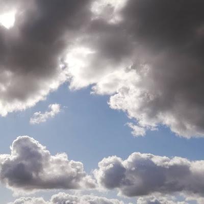 Wolken boven koolmees