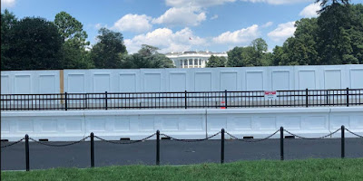 New Wall Around the White House in Washington DC