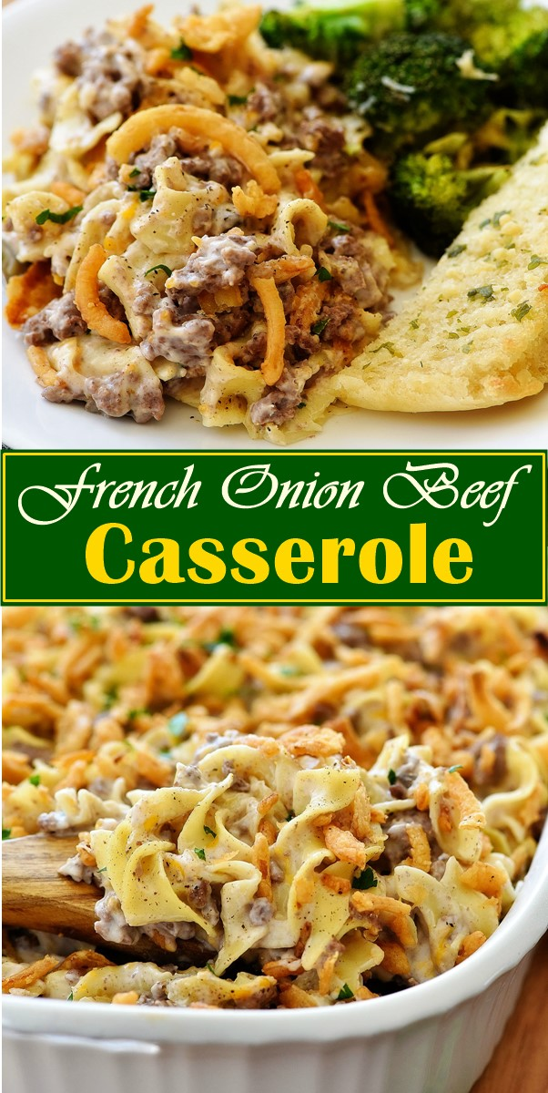 French Onion Beef Casserole #dinnerrecipes
