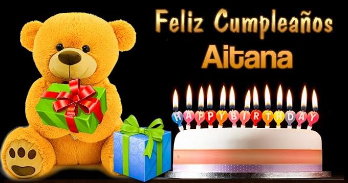 Feliz Cumpleaños Aitana