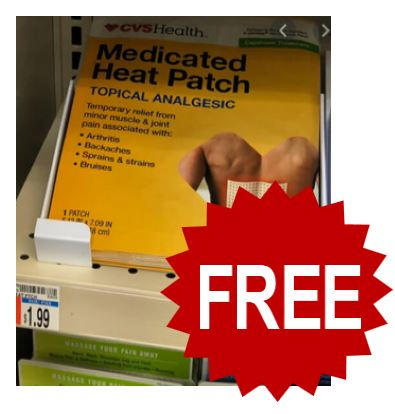 FREE CVS Health Medicated Heat Patch