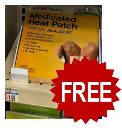 FREE CVS Health Medicated Heat Patch
