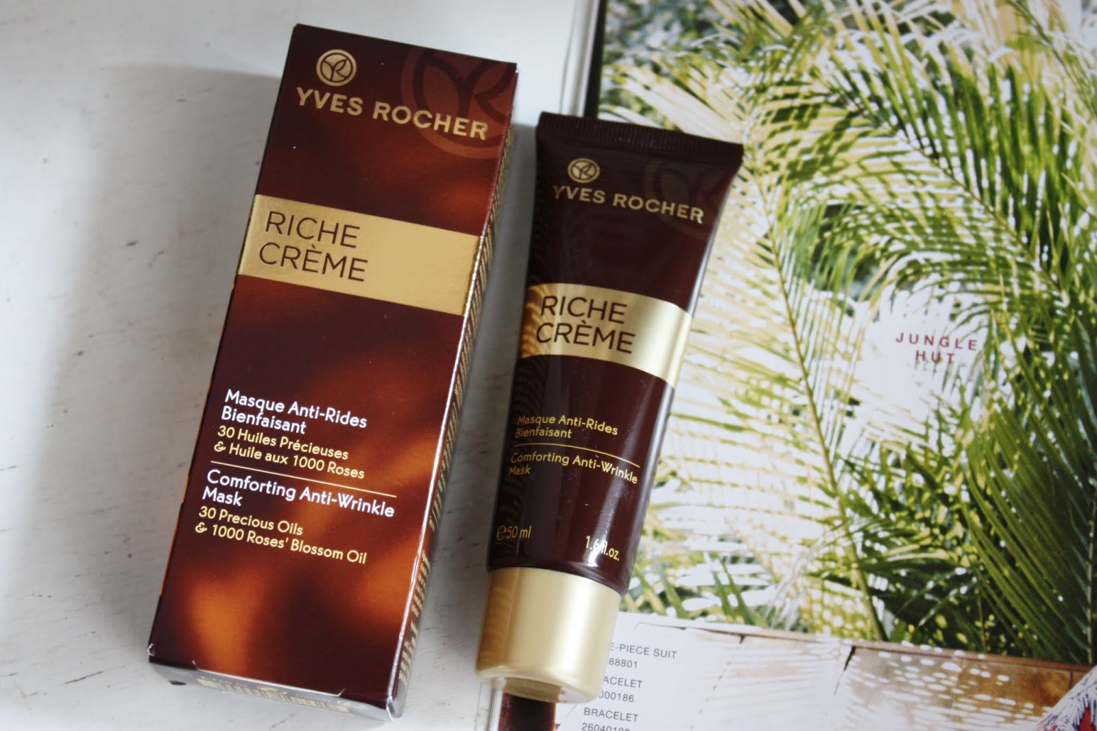 Yves Rocher - Riche creme - Comforting Anti-Wrinkle mask..