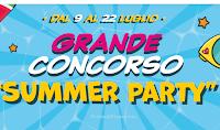 Logo Concorso ''Summer Party '' : vinci 4.000 teli mare e 1.000€ di spesa