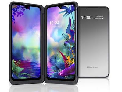 مواصفات و مميزات هاتف إل جي LG V50 ThinQ 5G مواصفات و سعر موبايل  إل جي LG V50S ThinQ 5G - هاتف/جوال/تليفون  إل جي LG V50S ThinQ 5G  هاتف إل جي في 50اس ثينك الجيل الخامس 5G (شبكات اتصال)