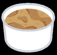 カップのアイスクリームのイラスト(モカ)
