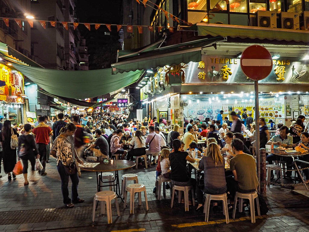 Temple Street food market, Hong Kong