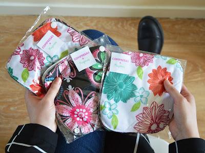 Pack compresas de tela reutilizables