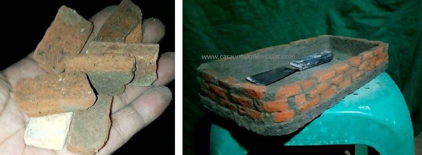 Cara Membuat Pot Bonsai Dari Potongan Batu Bata