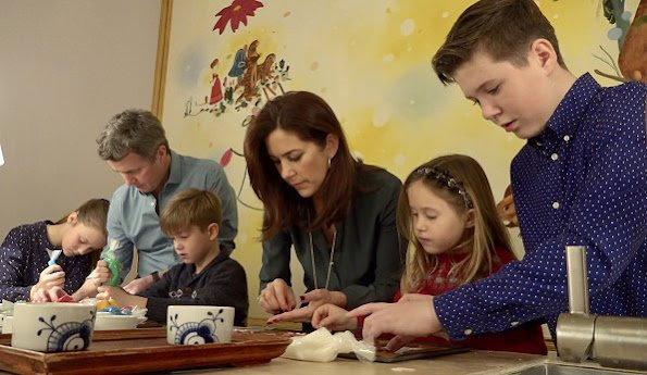 Crown Prince Frederik, Crown Princess Mary and their children Prince Christian, Princess Isabella, Prince Vincent and Princess Josephine