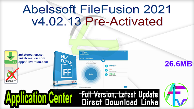 Abelssoft FileFusion 2021 v4.02.13 Pre-Activated