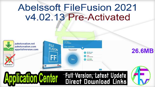 Abelssoft FileFusion 2021 v4.02.13 Pre-Activated