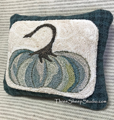'Cinderella Pumpkin' Wool Pillow by Rose Clay at ThreeSheepStudio.com