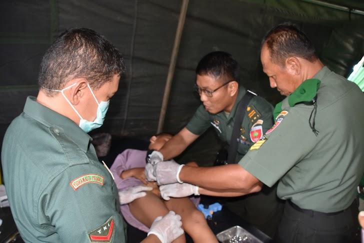 Korem 141/Tp, Grlar Bakyi Sosial  Pengobatan Umum Dan Sunnat Massal  Di RD. DR.M.YASIM  Bone