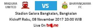 Madura United vs Bhayangkara FC.