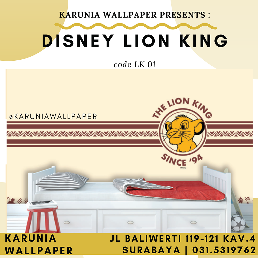jual wallpaper dinding lion king