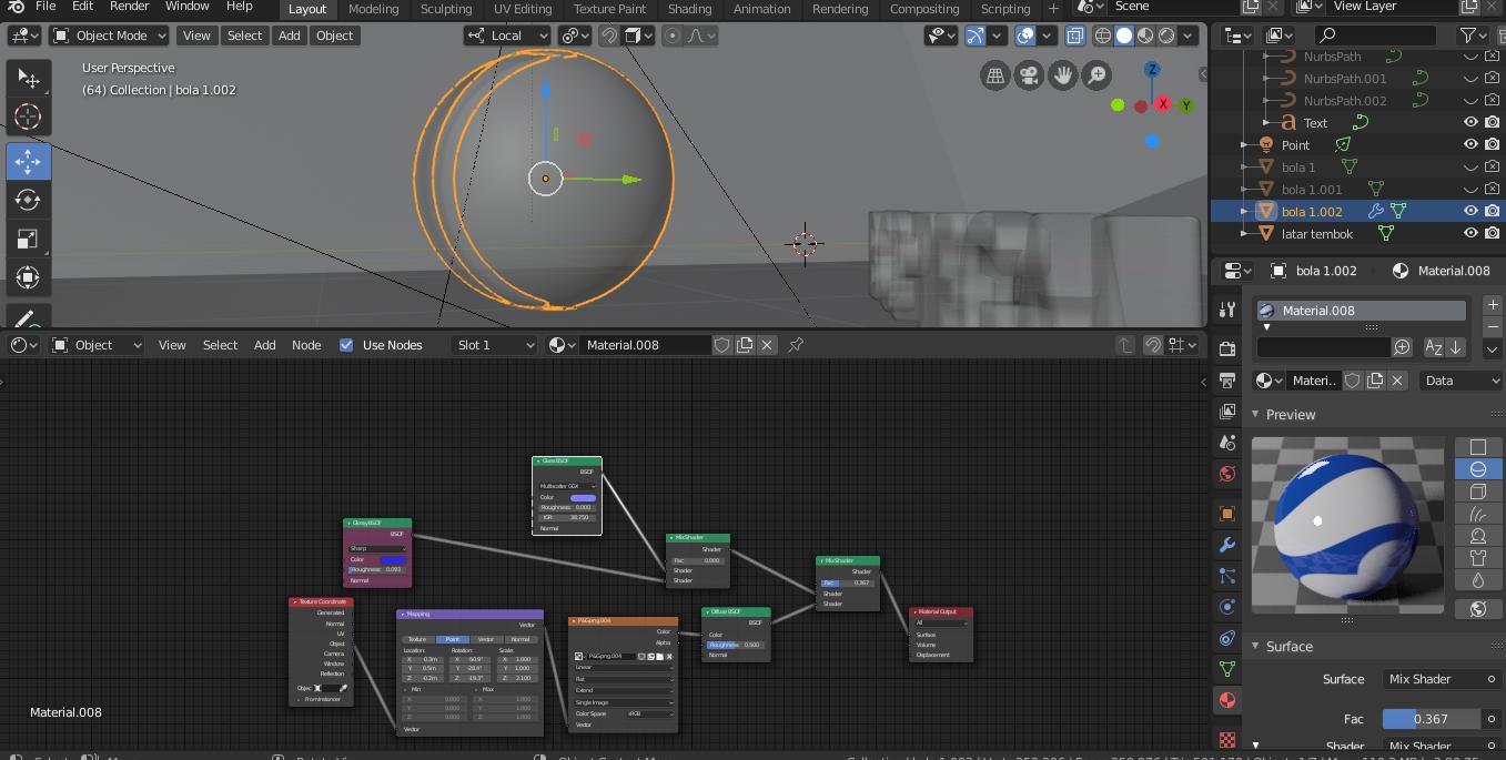 Blender 2.8 Editing : Resize Ukuran Gambar Textur DI Objek