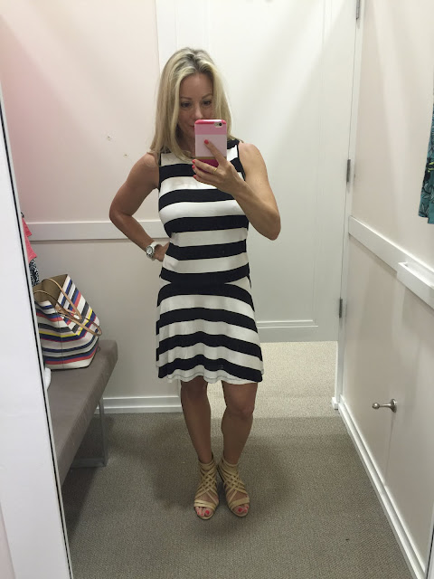 Summer Fashion -striped drop waist dress #outfit #outfitinspo #summerfashion
