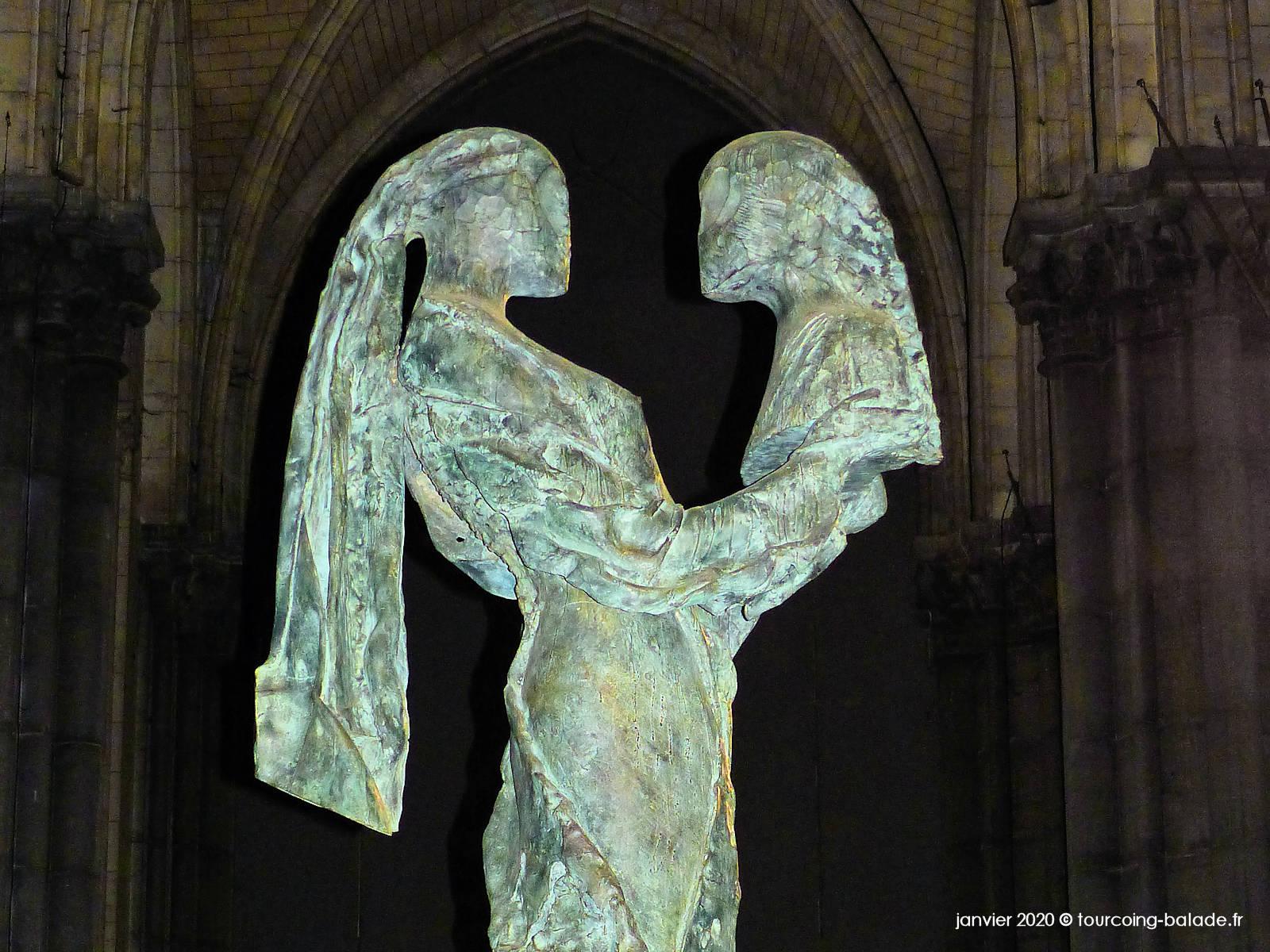 Sculpture Paix avec toi Alquin, Lille 2020