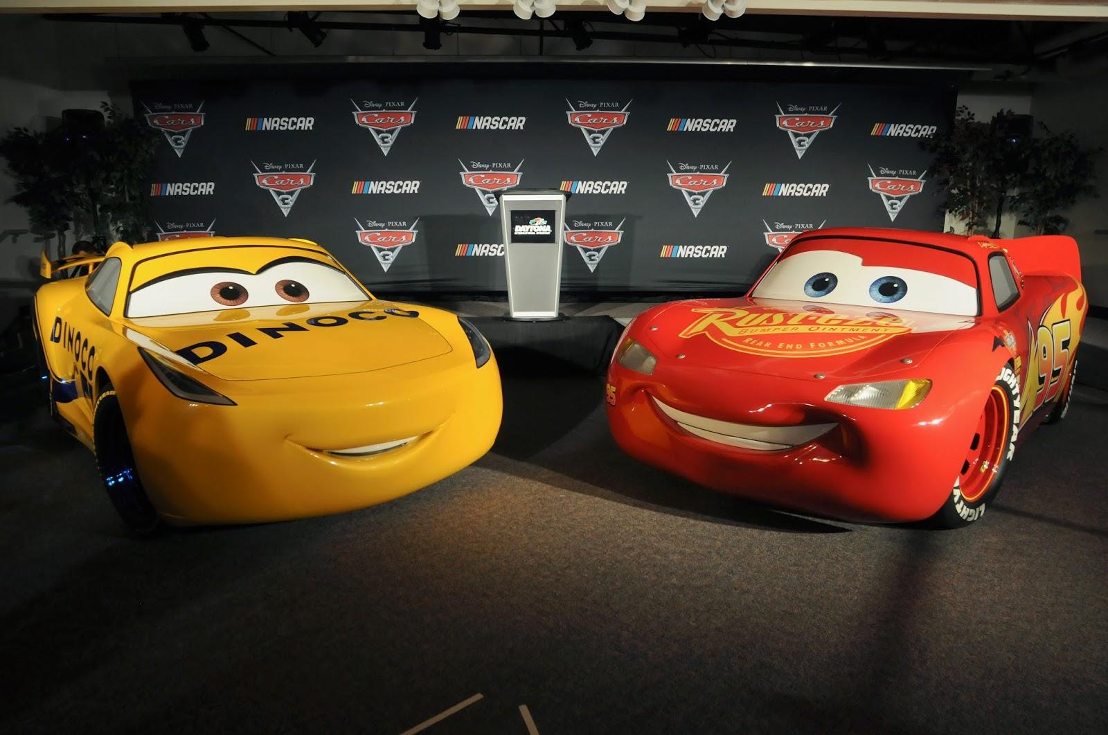 cars 3 news nascar press event unveils life size dinoco. Black Bedroom Furniture Sets. Home Design Ideas