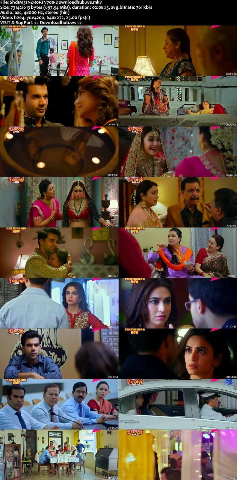 Shaadi Mein Zaroor Aana 2017 Hindi 700MB HDTV