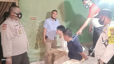 Polsek Tambang Ringkus 2 Pelaku Narkoba Disebuah Rumah Kosong di Desa Sungai Tarap