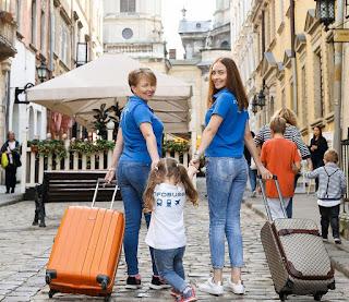 Travel agency uniform girls