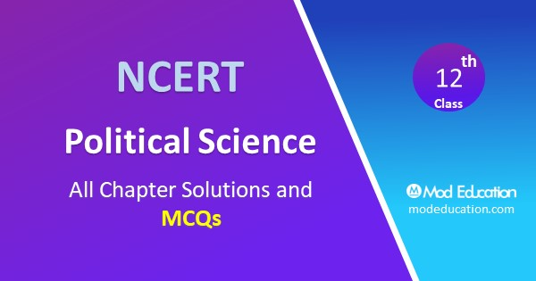 MCQ Class 12 Political Science Chapter 5 Challenges to and Restoration of Congress System with Answer