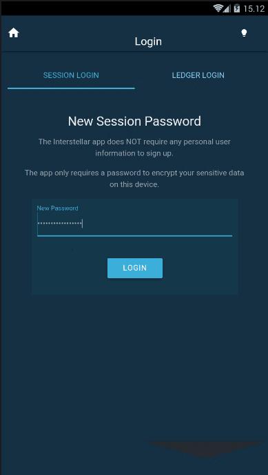 New Session Password