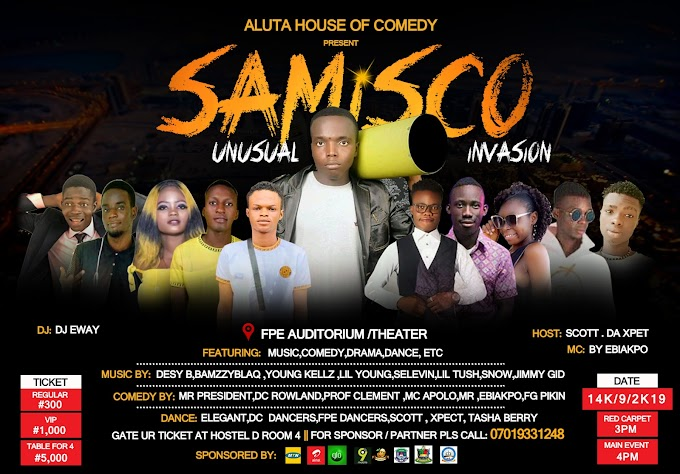 EVENT: SAMISCO UNUSUAL INVASION 2019.